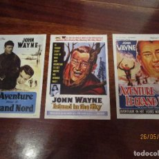 Cine: TRES FOLLETOS DE MANO DE JOHN WAYNE. Lote 205799737