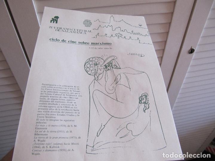 FOLLETO HOJA PUBLICIDAD 1983 SALAMANCA CICLO DE CINE SOBRE MARXISMO (Cine - Reproducciones de carteles, folletos...)