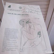 Cine: FOLLETO HOJA PUBLICIDAD 1983 SALAMANCA CICLO DE CINE SOBRE MARXISMO. Lote 205817471