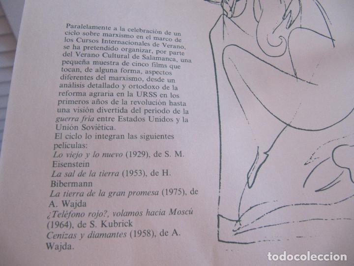 Cine: FOLLETO HOJA PUBLICIDAD 1983 SALAMANCA CICLO DE CINE SOBRE MARXISMO - Foto 3 - 205817471