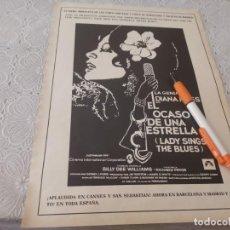 Cine: DIANA ROSS EN EL OCADO DE UNA ESTRELLA ESTRENO EN CINES RECORTE REVISTA 1973. Lote 206235281