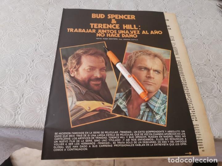 BUD SPENCER Y TERENCE HILL TRABAJAR JUNTOS RECORTE REVISTA 4 PAGINAS 1973 (Cine - Revistas - Otros)