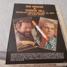 Cine: BUD SPENCER Y TERENCE HILL TRABAJAR JUNTOS RECORTE REVISTA 4 PAGINAS 1973. Lote 206235497