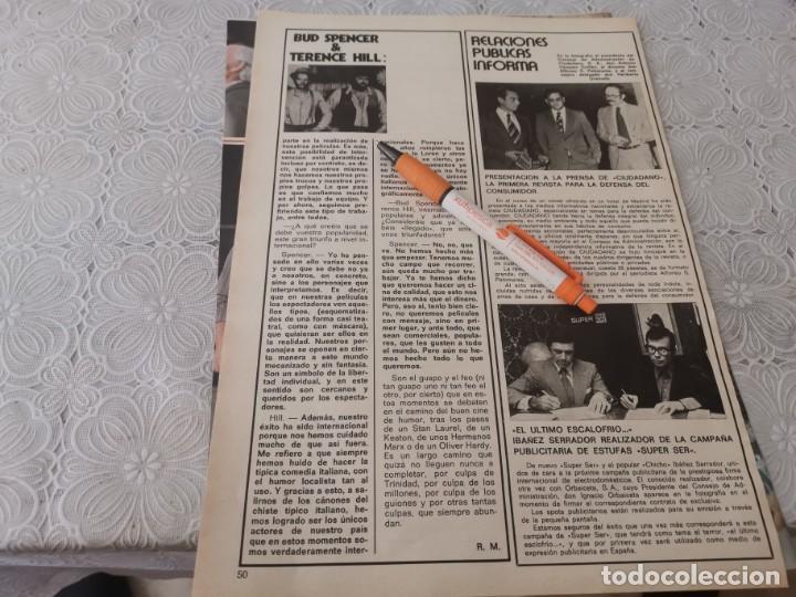 Cine: BUD SPENCER Y TERENCE HILL TRABAJAR JUNTOS RECORTE REVISTA 4 PAGINAS 1973 - Foto 3 - 206235497