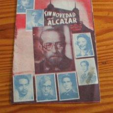 """Cine: FOLLETO ESTRENO PELÍCULA """"SIN NOVEDAD EN EL ALCAZAR"""". 7 FEBRERO DE 1941. UNIÓN MUSICAL DE LLIRIA.. Lote 206266211"""