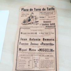 Cine: CARTEL DE TOROS, PLAZA DE TOROS DE TARIFA 1952 PRECIO PROVISIONAL.. Lote 206439015