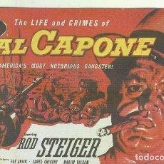 Cine: PROGRAMAS DE CINE: AL CAPONE. Lote 206547840