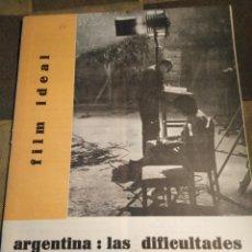Cine: FILM IDEAL-N°69-70,ABRIL 1961,ARGENTINA:LAS. DIFICULTADES DE UN CINE SIN CENSURA. Lote 206569296