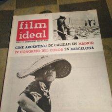Cine: FILM IDEAL-N°108,NOVIEMBRE 1962,CINE ARGENTINO DE CALIDAD EN MADRID,IV CONGRESO DEL COLOR EN BARCELO. Lote 206569652