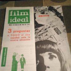 Cine: FILM IDEAL-N°105,OCTUBRE 1962,VENECIA,3 PREGUNTAS A TODO EL CINE ESPAÑOL ANTE LA NUEVA SITUACIÓN,. Lote 206570507