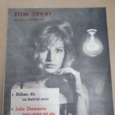 Cine: FILM IDEAL-REVISTA DE CINE,N°82,OCTUBRE 1961,JULIO DIAMANTE,ANTONIONI Y EL ACTOR,. Lote 206788881