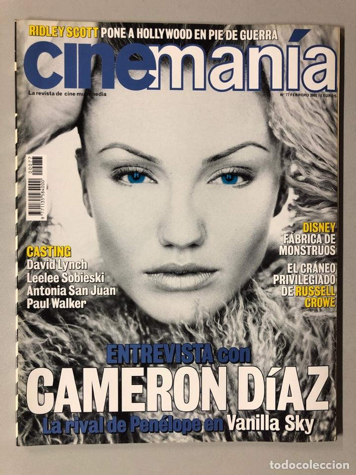 CINEMANIA N° 77 (2002). CAMERON DIAZ, DAVID LYNCH, DISNEY, RUSSELL CROWE, RIDLEY SCOTT,... (Cine - Revistas - Cinemanía)