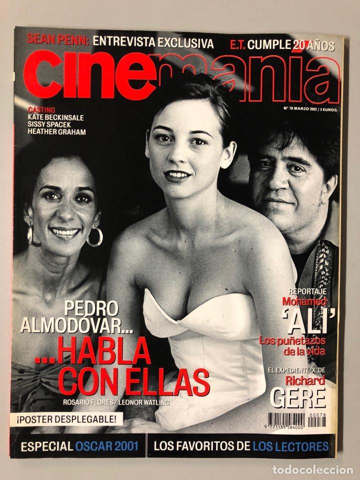 CINEMANIA N° 78 (2002). PEDRO ALMODÓVAR, ROSARIO FLORES, LEONOR WATLING, SEAN PENN, ALI,... (Cine - Revistas - Cinemanía)