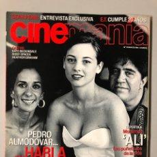 Cine: CINEMANIA N° 78 (2002). PEDRO ALMODÓVAR, ROSARIO FLORES, LEONOR WATLING, SEAN PENN, ALI,.... Lote 206867982