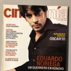 Cine: CINEMANIA N° 79 (2002). EDUARDO NORIEGA, GENE HACKMAN, HALLE BERRY, INGRID RUBIO,... Lote 206868156