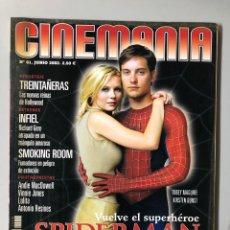 Cine: CINEMANIA N° 80 (2002). SPIDERMAN, TOBEY MAGUIRE, KIRSTEN DUNST, RICHARD GERE,.... Lote 206868462