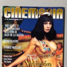 Cine: CINEMANIA N° 83 (2002). MONICA BELLUCCI, ÀLEX DE LA IGLESIA, ANTHONY HOPKINS, KATIE HOLMES,.... Lote 206868656