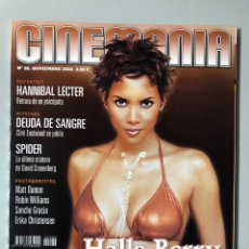 Cine: CINEMANIA N° 86 (2002). HALLE BERRY, 40 AÑOS DE 007, AL PACINO, MATT DAMON, SANCHO GRACIA,.... Lote 206868896