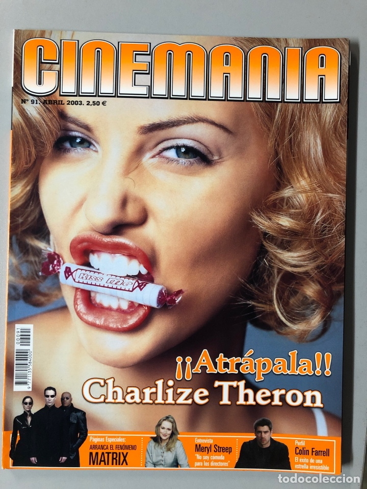 CINEMANIA N° 91 (2003). CHARLIZE THERON, MATRIX, MERYL STREEP, COLIN FARRELL,... (Cine - Revistas - Cinemanía)