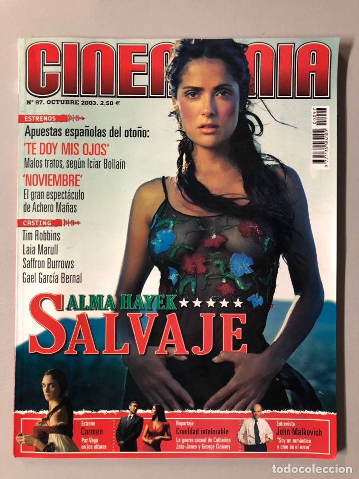 CINEMANIA N° 97 (2003). SALMA HAYEK, TIM ROBBINS, PAZ VEGA, JOHN MALKOVICH, GAEL GARCÍA BERNAL,... (Cine - Revistas - Cinemanía)