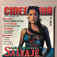 Cine: CINEMANIA N° 97 (2003). SALMA HAYEK, TIM ROBBINS, PAZ VEGA, JOHN MALKOVICH, GAEL GARCÍA BERNAL,.... Lote 206870220