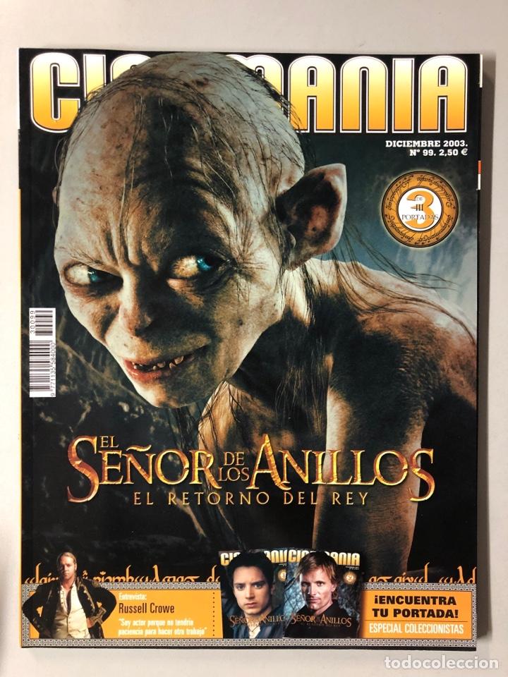 CINEMANIA N° 99 (2003). EL SEÑOR DE LOS ANILLOS EL RETORNO DEL REY, RUSSELL CROWE,... (Cine - Revistas - Cinemanía)
