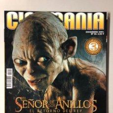 Cine: CINEMANIA N° 99 (2003). EL SEÑOR DE LOS ANILLOS EL RETORNO DEL REY, RUSSELL CROWE,.... Lote 206870740