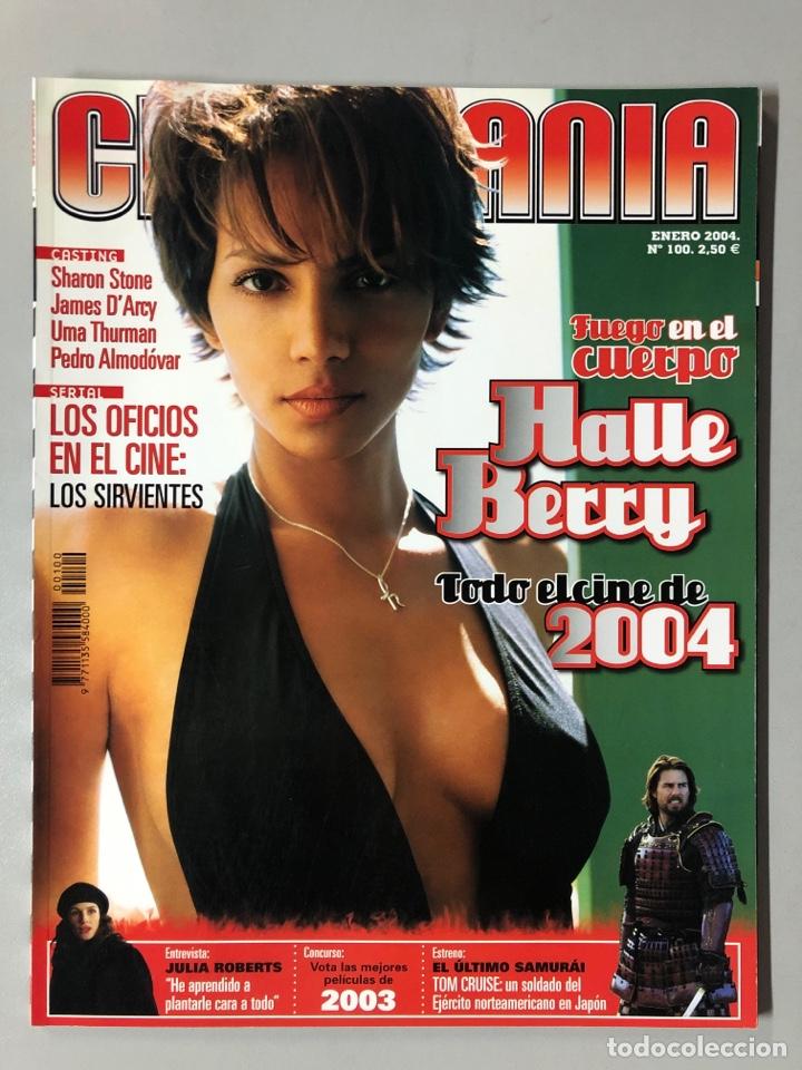 CINEMANIA N° 100 (2004). HALLE BERRY, SHARON STONE, UMA THURMAN, PEDRO ALMODÓVAR,... (Cine - Revistas - Cinemanía)