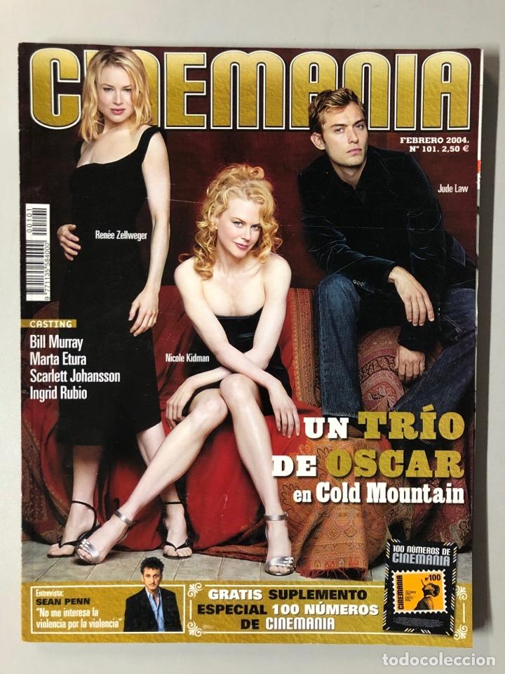 CINEMANIA N° 101 (2004). NICOLE KIDMAN, RENÉE ZELLWEGER, JUDE LAW, BILL MURRAY, SEAN PENN,... (Cine - Revistas - Cinemanía)