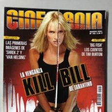 Cine: CINEMANIA N° 102 (2004). KILL BILL, TARANTINO, PEDRO ALMODÓVAR, TIM BURTON,... Lote 206871422
