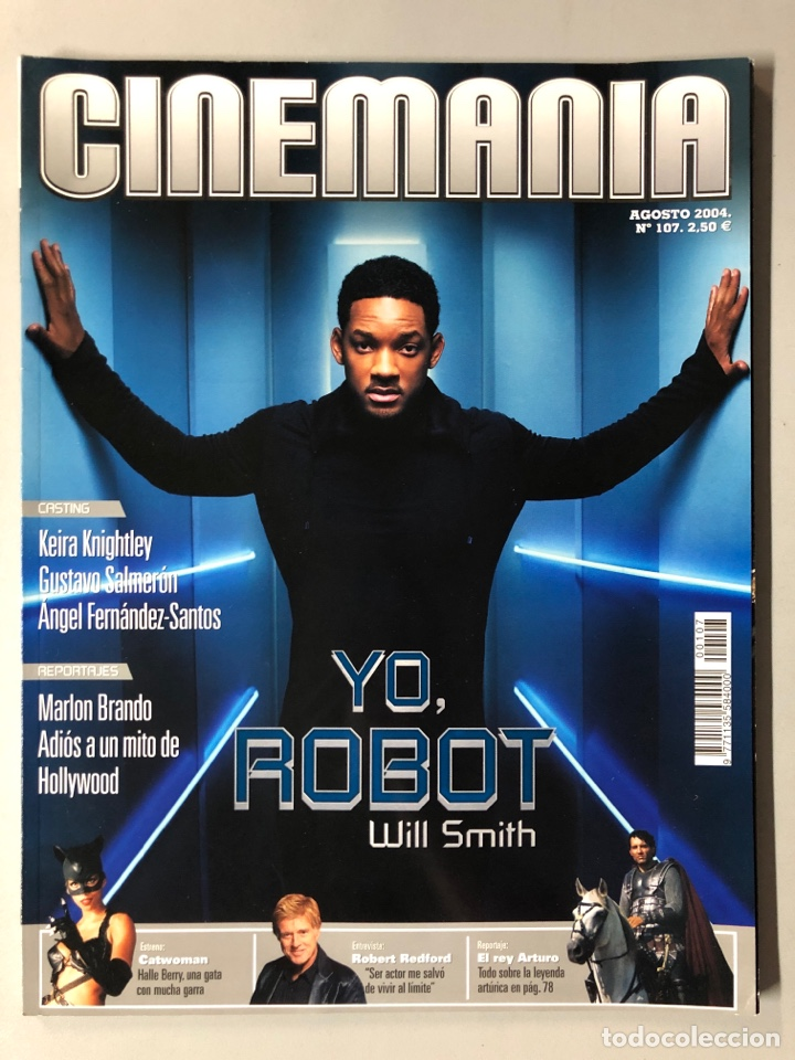CINEMANIA N° 107 (2004). WILL SMITH, MARLON BRANDO, HALLE BERRY, ROBERT REDFORD,... (Cine - Revistas - Cinemanía)