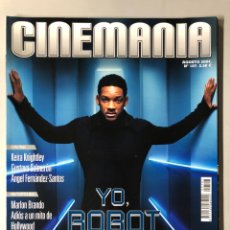 Cine: CINEMANIA N° 107 (2004). WILL SMITH, MARLON BRANDO, HALLE BERRY, ROBERT REDFORD,.... Lote 206873067