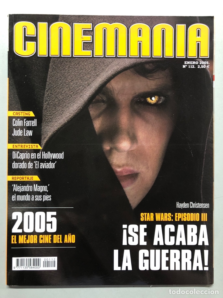CINEMANIA N° 112 (2005). STAR WARS: EPISODIA III, LEONARDO DICAPRIO, JUDE LAW, COLIN FARRELL,... (Cine - Revistas - Cinemanía)