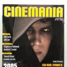 Cine: CINEMANIA N° 112 (2005). STAR WARS: EPISODIA III, LEONARDO DICAPRIO, JUDE LAW, COLIN FARRELL,.... Lote 206874587