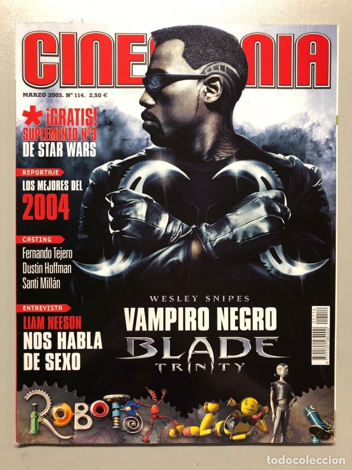 CINEMANIA N° 114 (2005). BLADE TRINITY, LIAM NEESON, DUSTIN HOFFMAN, SANTI MILLÁN,... (Cine - Revistas - Cinemanía)