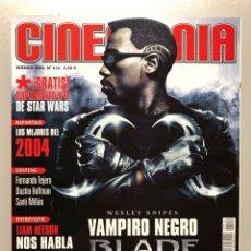 Cine: CINEMANIA N° 114 (2005). BLADE TRINITY, LIAM NEESON, DUSTIN HOFFMAN, SANTI MILLÁN,.... Lote 206875093