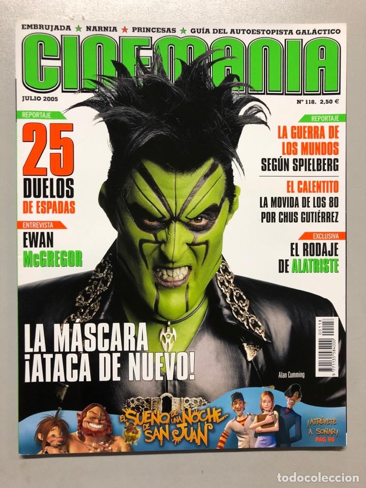 CINEMANIA N° 118 (2005). EWAN MCGREGOR, STEVEN SPIELBERG, CHUS GUTIÉRREZ, ALATRISTE,... (Cine - Revistas - Cinemanía)