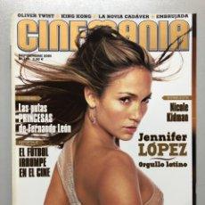 Cine: CINEMANIA N° 120 (2005). JENNIFER LÓPEZ, NICOLE KIDMAN, EL FÚTBOL EN EL CINE, FERNANDO LEÓN,... Lote 206875551