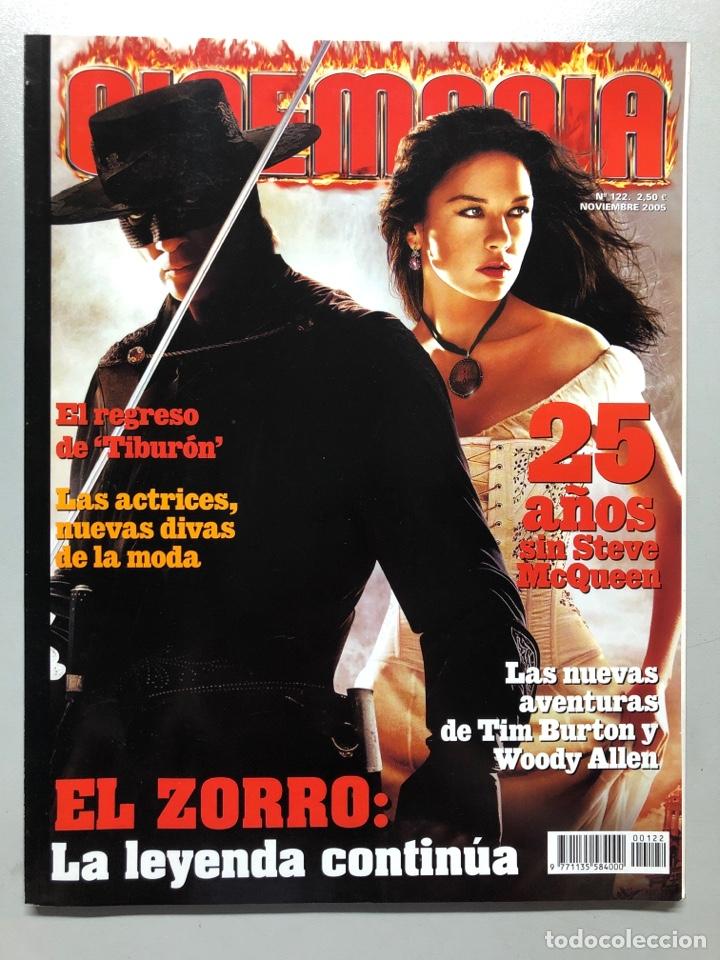 CINEMANIA N° 122 (2005). EL ZORRO, STEVE MCQUEEN, TIBURÓN, TIM BURTON, WOODY ALLEN,... (Cine - Revistas - Cinemanía)