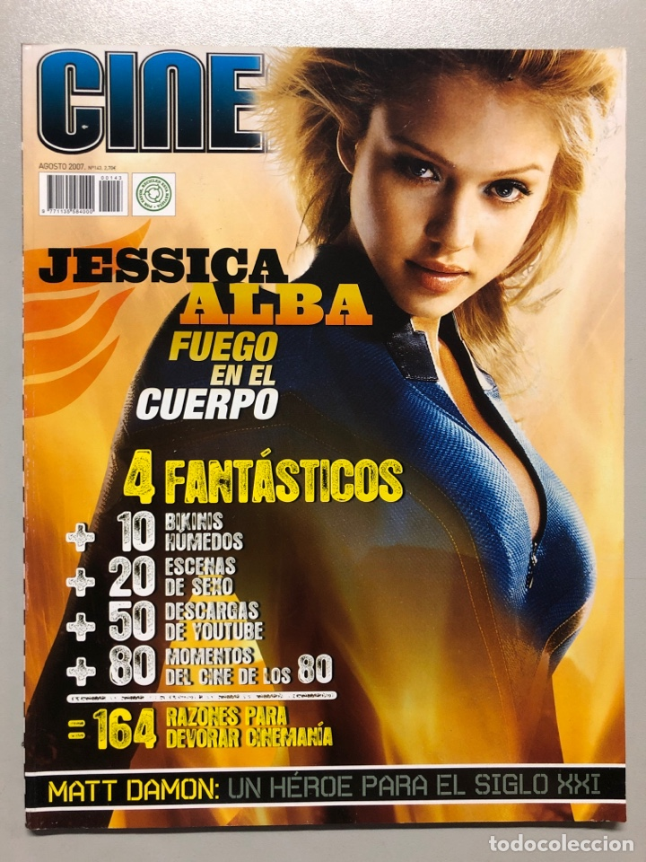 CINEMANIA N° 143 (2007). JESSICA ALBA, LOS 4 FANTÁSTICOS, MATT DAMON,... (Cine - Revistas - Cinemanía)