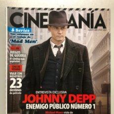 Cine: CINEMANIA N° 167 (2009). JOHNNY DEPP, MAD MEN, MICHAEL MANN,.... Lote 206898215
