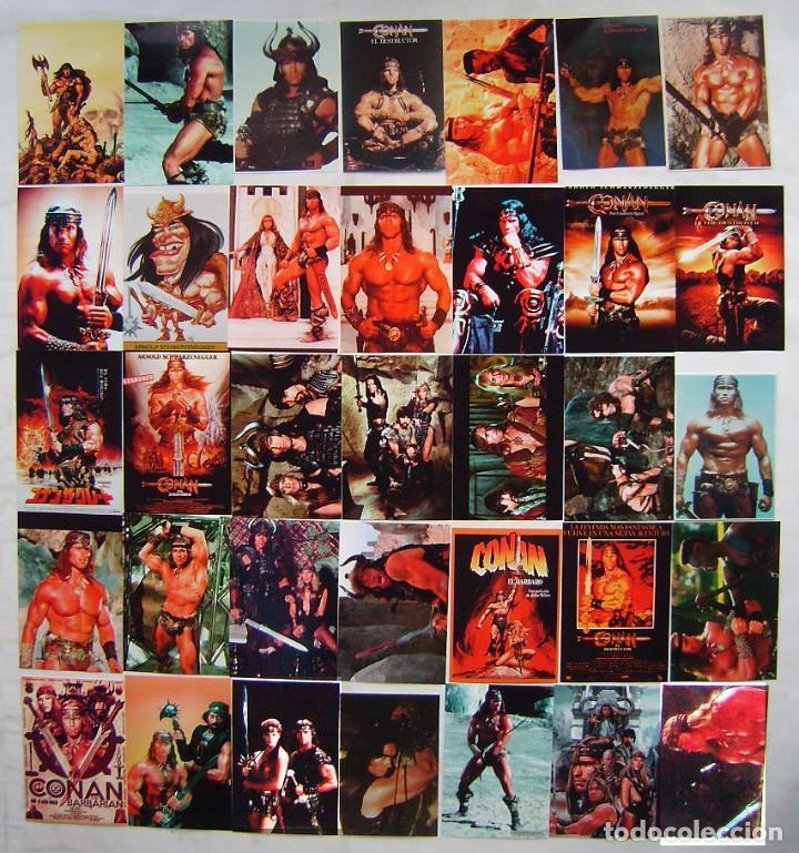 CONAN, CON ARNOLD SCHWARZENEGGER. 35 REPRODUCCIONES EN FOTOGRAFÍA SOBRE 10 X 15 CMS.. (Cine - Reproducciones de carteles, folletos...)