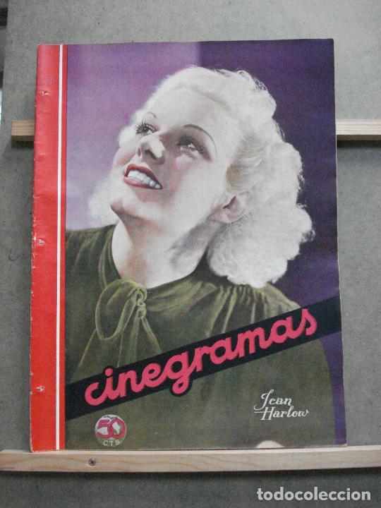AAK21 JEAN HARLOW REVISTA ESPAÑOLA CINEGRAMAS Nº 48 AGOSTO 1935 (Cine - Revistas - Cinegramas)