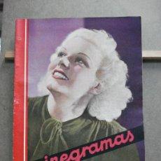 Cine: AAK21 JEAN HARLOW REVISTA ESPAÑOLA CINEGRAMAS Nº 48 AGOSTO 1935. Lote 207067368