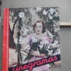 Cine: AAK23 MARGARET SULLAVAN REVISTA ESPAÑOLA CINEGRAMAS Nº 49 AGOSTO 1935. Lote 207068307