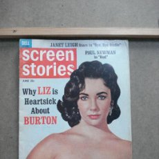 Cine: AAK43 ELIZABETH TAYLOR REVISTA AMERICANA SCREEN STORIES JUNIO 1963. Lote 207103116