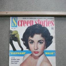 Cine: AAK46 ELIZABETH TAYLOR REVISTA AMERICANA SCREEN STORIES ENERO 1954. Lote 207105710