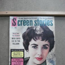 Cine: AAK48 ELIZABETH TAYLOR REVISTA AMERICANA SCREEN STORIES ABRIL 1959. Lote 207106428