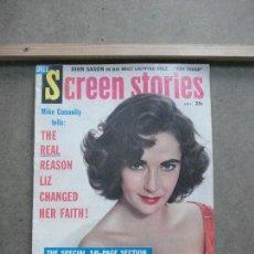 Cine: AAK54 ELIZABETH TAYLOR REVISTA AMERICANA SCREEN STORIES SEPTIEMBRE 1959. Lote 207116691