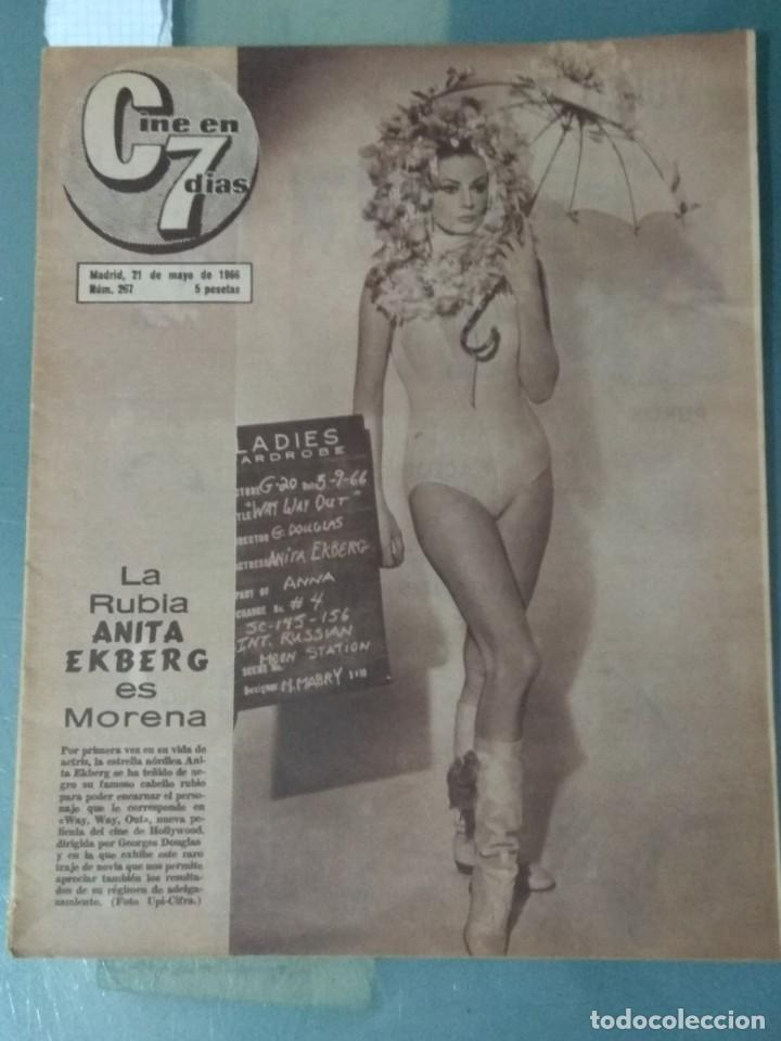 CINE EN SIETE DIAS - REVISTA Nº267 DE 21 DE MAYO DE 1966 (Cine - Revistas - Cine en 7 dias)